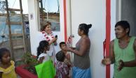 Mercedes Calvo entrega 225 espacios en colonias de Acapulco