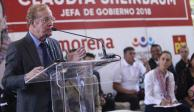 José Ramón Fernández asiste a evento de Sheinbaum