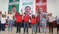 Líderes de MC, Humanista y Panal se suman a campaña del PRI en Contreras
