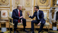 """Emmanuel Macron considera """"indecentes"""" los comentarios de Trump"""
