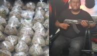"""Cae con 110 kilos de mariguana y un """"cuerno de chivo"""" en Cuauhtémoc"""