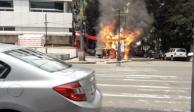 FOTOS y VIDEOS: Puesto de comida se incendia en la Roma