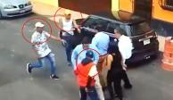 VIDEO: Con cuchillos en mano, banda asalta a peatones en Tacuba
