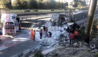Accidente en la carretera México-Toluca deja 4 lesionados