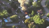 Investigan causas que originaron explosiones al norte de Boston