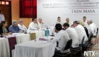 Gobernadores constitucionales y electos acuerdan respaldar el Tren Maya