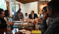 Astudillo se reúne con autoridades electas y dirigencia del Panal