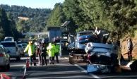 Aparatoso accidente en la México-Cuernavaca provoca un deceso