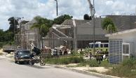 Colapso en obra en Puerto Morelos deja un muerto y tres desaparecidos