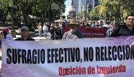 Vuelven a marchar sobre Reforma a favor del NAIM y contra consultas