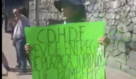 Bomberos hacen mitin frente a la CDHDF para exigir sus derechos