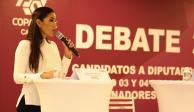 Candy Ayuso participa en primer debate ciudadano 2018 en QRoo