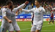 Con un doblete de Ronaldo, Real Madrid le gana 2-1 al Eibar