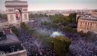 Estallan de alegría en París por triunfo mundialista