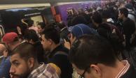 Falla en neumático provocó caos en la Línea 7 del Metro