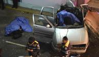Choque en Churubusco y Tlalpan deja dos muertos y 3 heridos