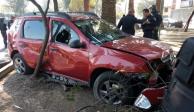 Ladrones mueren al estrellar auto durante persecución en la GAM