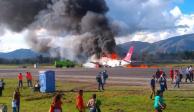 Un avión con más de 100 pasajeros se estrella al despegar en La Habana