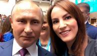 Gabriela Cuevas, diputada de Morena, se toma selfie con Vladimir Putin