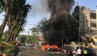 VIDEO: Ataque terrorista deja 13 muertos en Indonesia