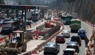 Por trabajos del Tren Interurbano cerrarán dos carriles en la México-Toluca