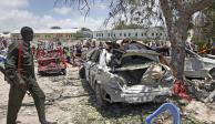 FOTOS: Deja 6 muertos y 14 heridos ataque con coche bomba en Somalia