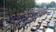 Movilizaciones complican vialidad en Zócalo, Reforma y carretera a Toluca