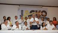 Mancera promueve en Acapulco a candidatos de la coalición PAN-PRD