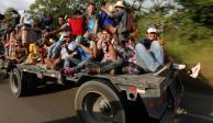 Llega segunda caravana de migrantes a Oaxaca