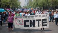 Este lunes la CNTE prevé bloqueos, marchas y plantones en la CDMX