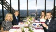 Macron tiende mano a un Trump aislado por Europa, en París