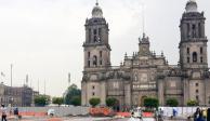 Hallan basamento en  Zócalo; seguirán obras