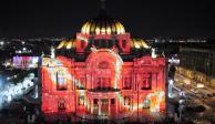 FOTOS: Ilumina FILUX el Centro Histórico en homenaje a víctimas de sismos
