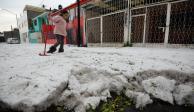 FOTOS: Granizada cubre de hielo a Toluca antes de Navidad