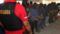 Detienen a 58 en redada a sauna gay de Indonesia