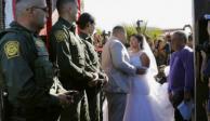 Le permiten casarse en la frontera y luego descubren que es narco