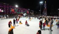 FOTOS: Inauguran la pista de hielo en el Zócalo capitalino