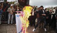 Palestinos protestan en Gaza