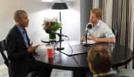 Príncipe Harry entrevista al expresidente Barack Obama