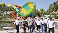 Graco supervisa rehabilitación de parque acuático en Oaxtepec