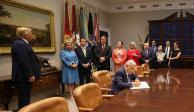 ebrard senado, Encuentro Trump-AMLO