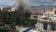 Incendio en la iglesia de la Santa Veracruz.