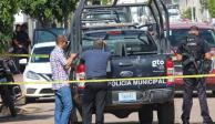 Policías escena Gto