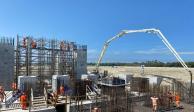 Obras en la refinería de Dos Bocas,Tabasco