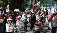 Simpatizantes de AMLO en la Marcha del millón