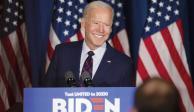 Joe Biden en un informe el día 3 de Noviembre en la noche