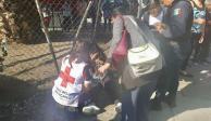 Volcadura de combi en Cuautitlán Izcalli
