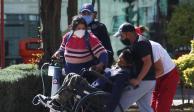Paciente con síntomas de Covid llega a urgencias del Hospital de Tláhuac, ayer.