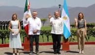 AMLO con el presidente de Argentina, Alberto Fernández