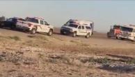 Mueren 15 tras fuerte choque cerca de la frontera con México.